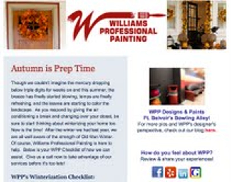 Autumn Newsletter - Important Tips for Homeowners!