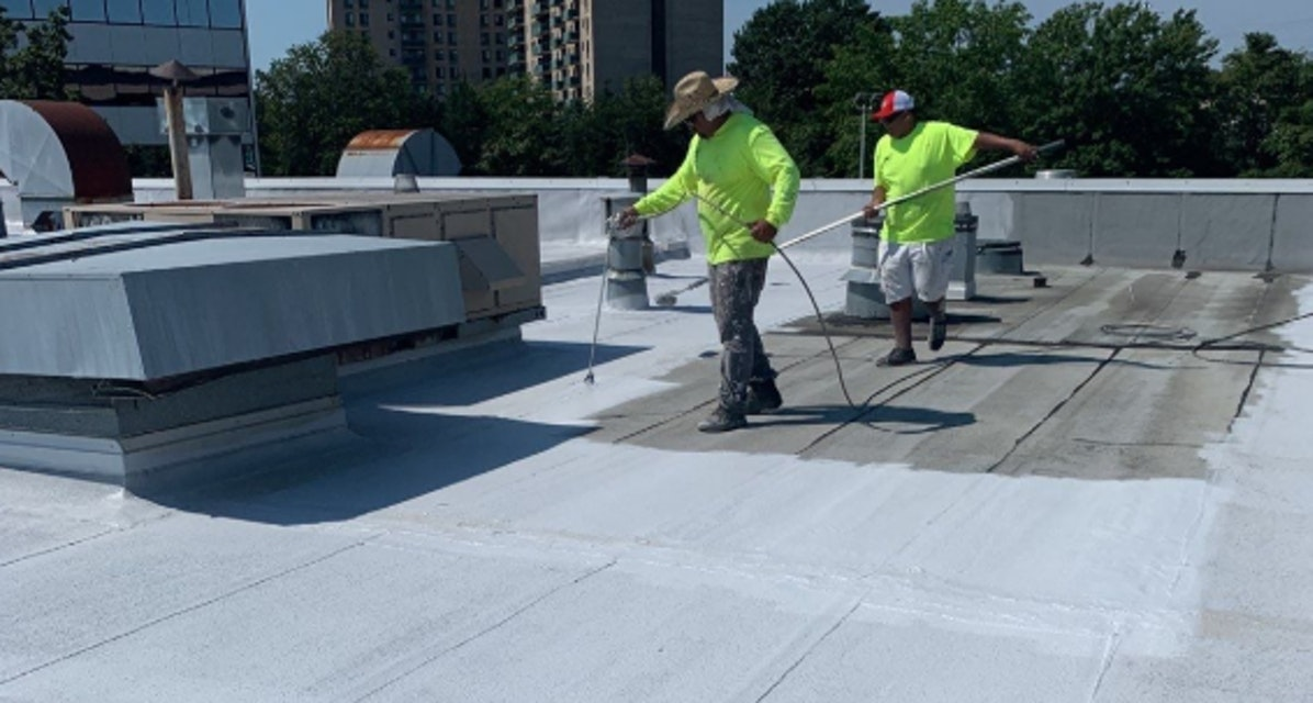Commercial Roof Coating Application in Alexandria, Virginia