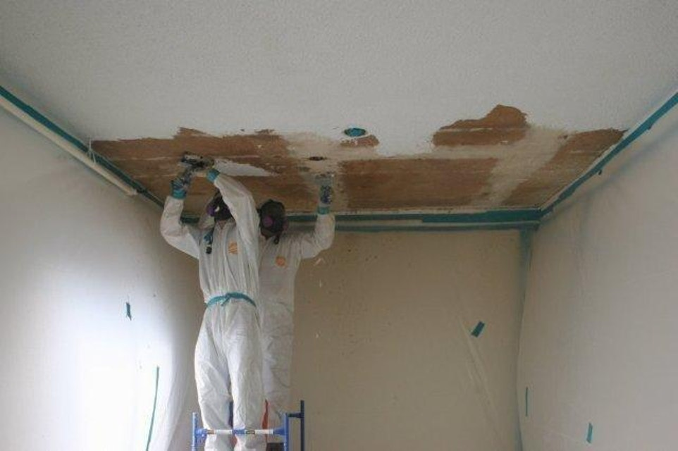 Popcorn Ceiling Removal and Repair