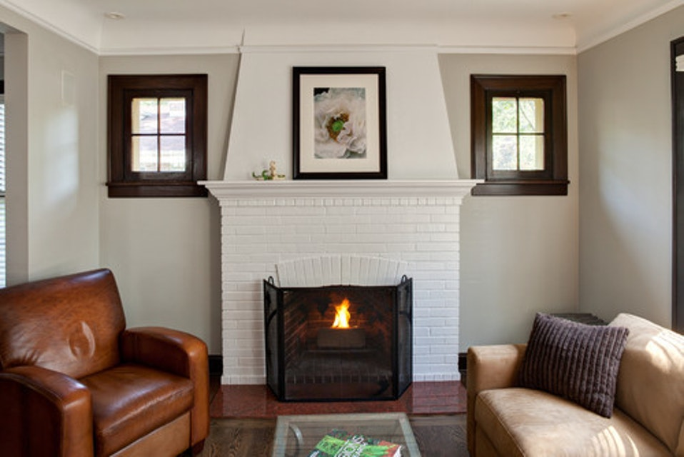 ​Painting Your Brick Fireplace